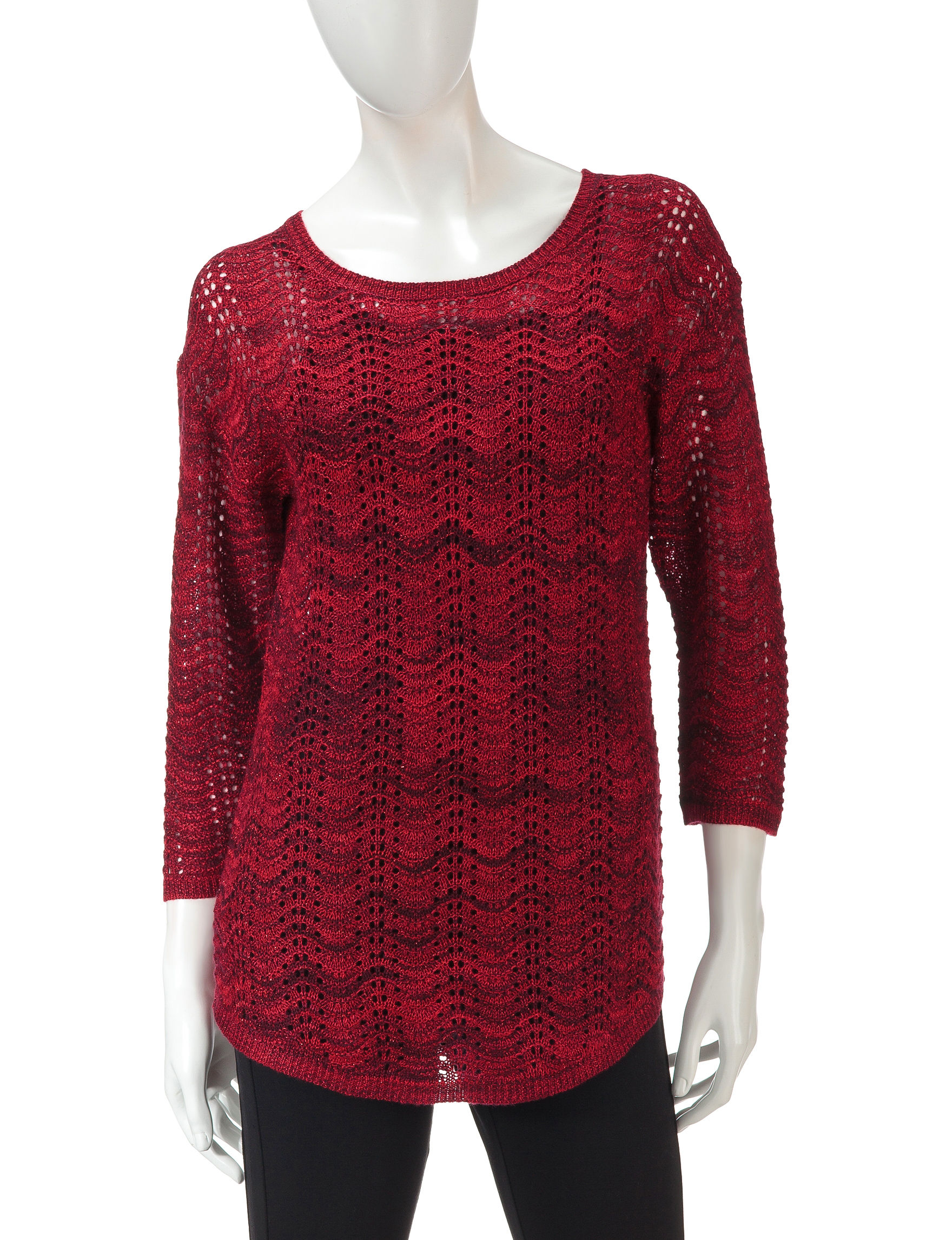 Hannah Red Pull-overs Sweaters