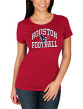 Houston Texans Solid Color Football Knit Top