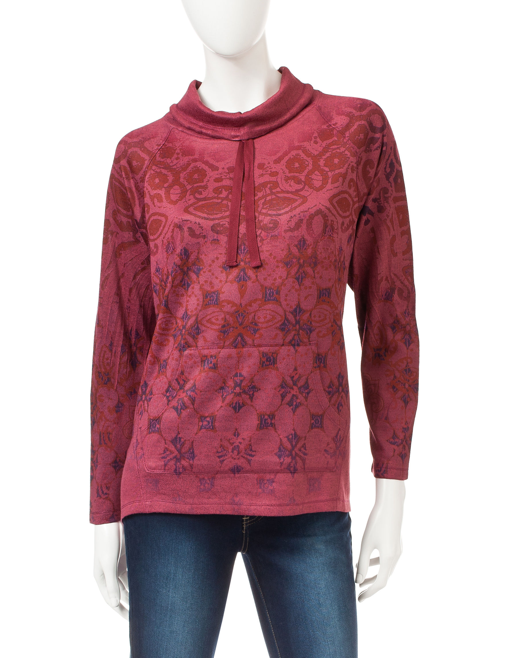 Energe Red Pull-overs Shirts & Blouses