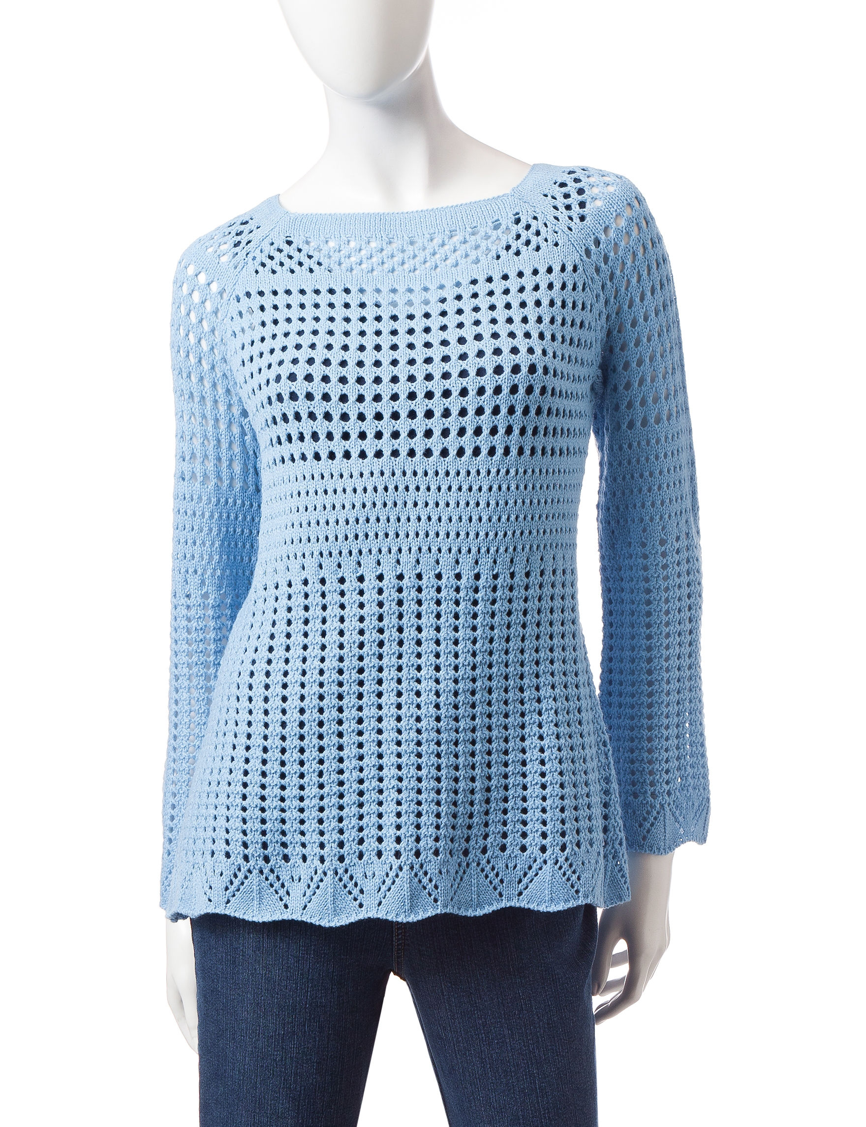 Hannah Blue Pull-overs Sweaters