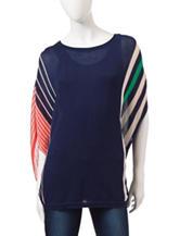 Hannah Multi-Stripe Poncho Sweater