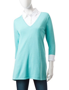 Jeanne Pierre Blue Pull-overs Shirts & Blouses