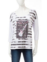 Hannah Rock & Roll Hi-Lo Striped Top