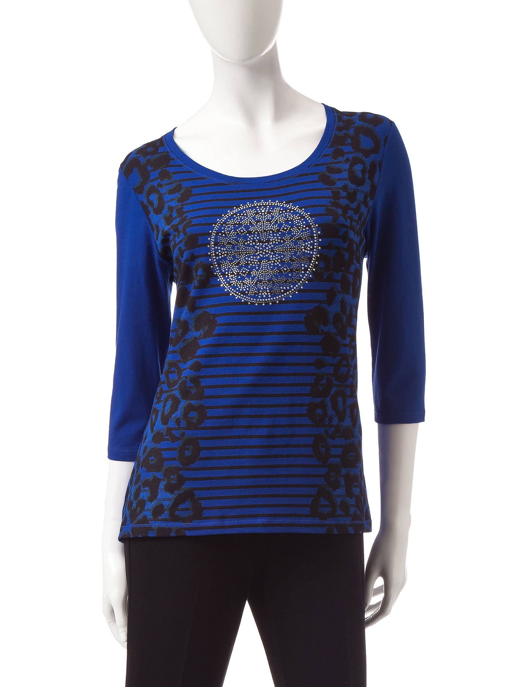 Onque Casuals Blue Shirts & Blouses