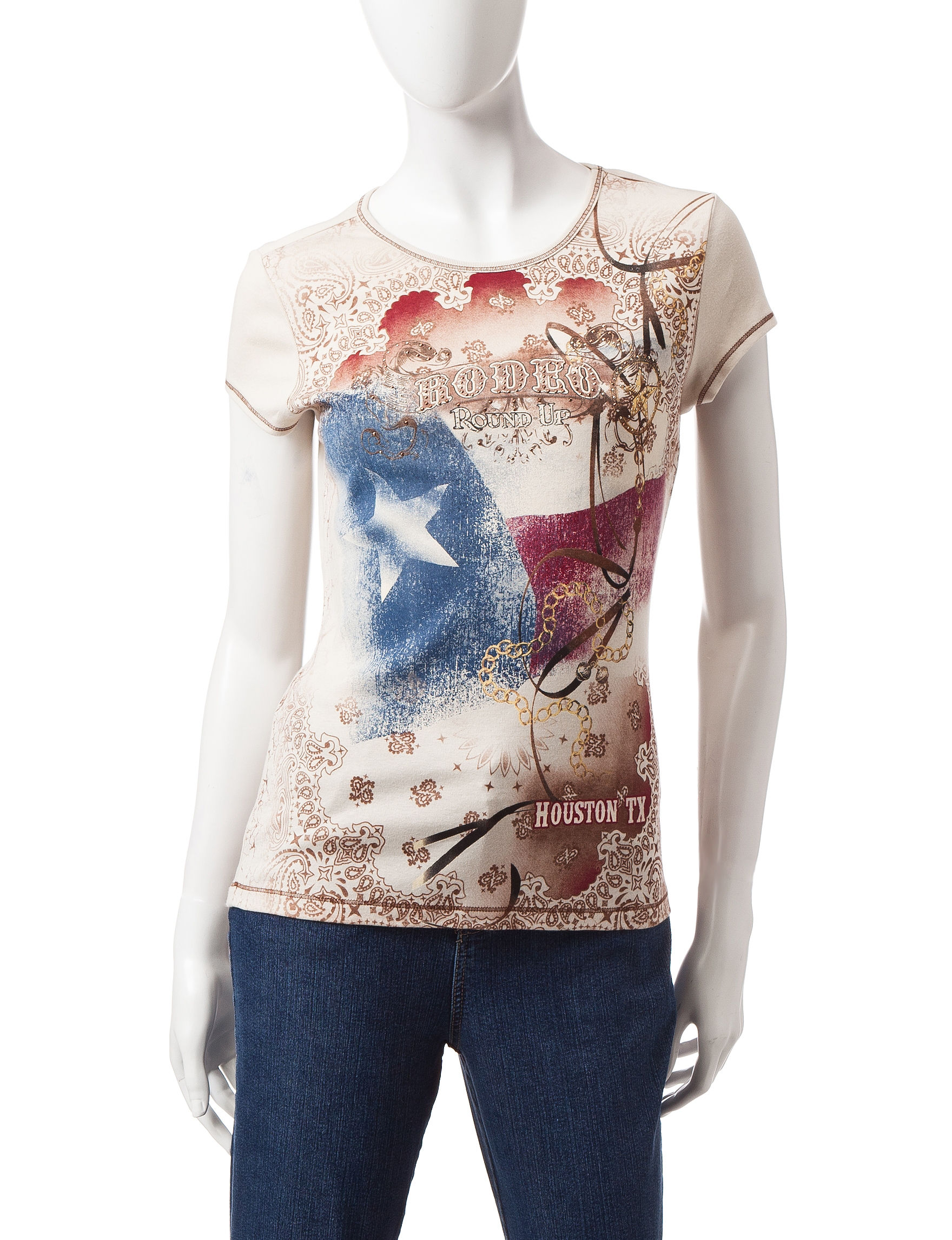Blue Canyon Taupe Shirts & Blouses Tees & Tanks