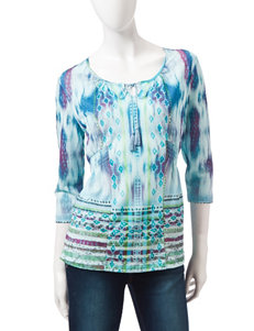 Energe Blue Shirts & Blouses Tees & Tanks