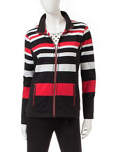 Onque Casuals Striped Knit Jacket