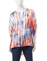 Ruby Rd. Printed Hi-Lo Poncho Top