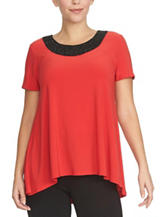 Chaus Beaded Knit Top