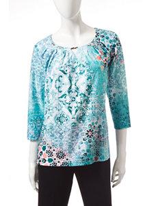 Rebecca Malone Aqua Pull-overs Shirts & Blouses