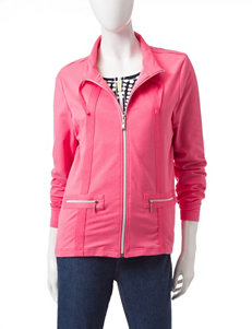 Onque Casuals Pink Lightweight Jackets & Blazers