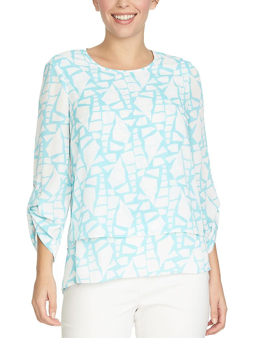 Chaus Blue / White Shirts & Blouses