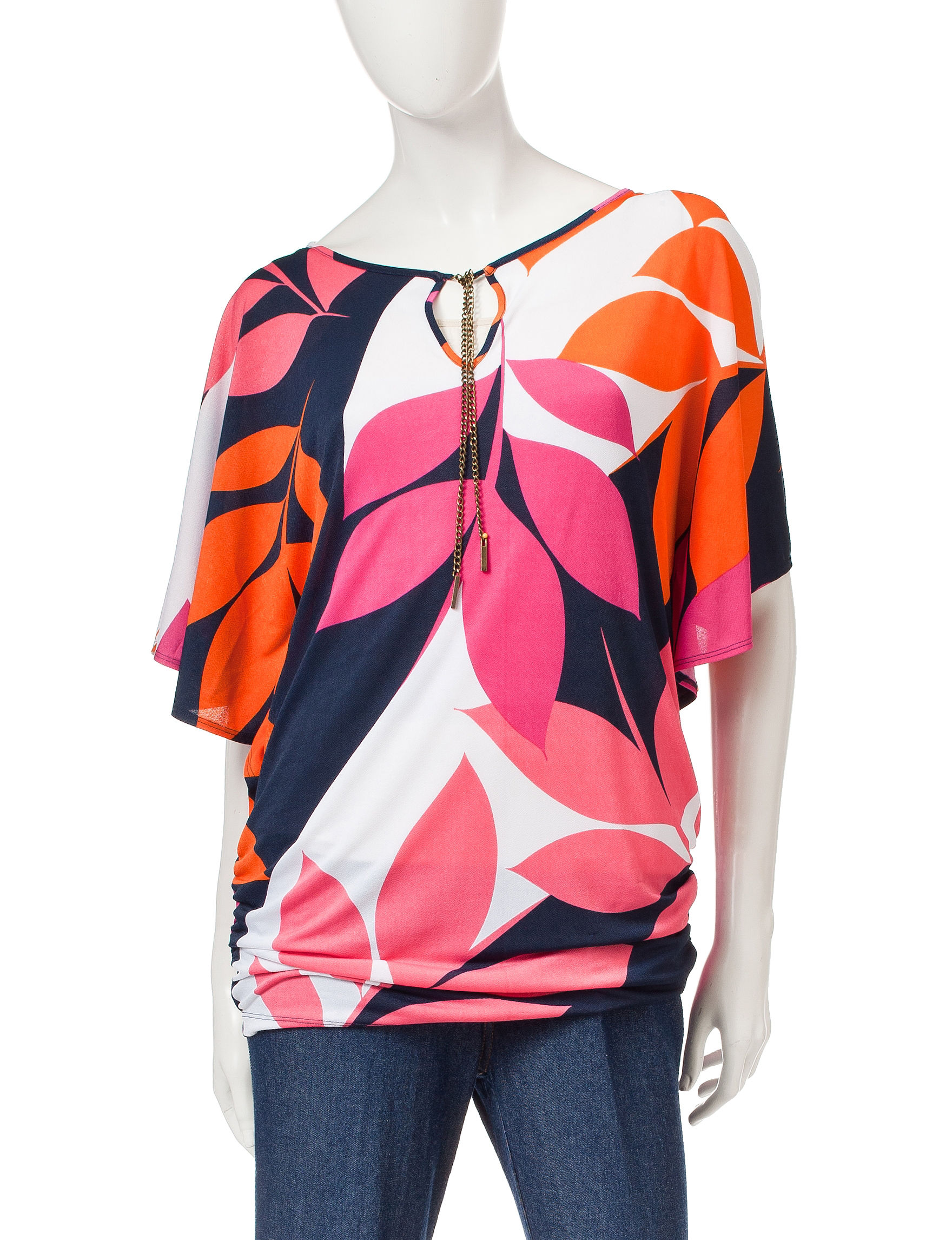 Ruby Road Pink Pull-overs Shirts & Blouses Tunics