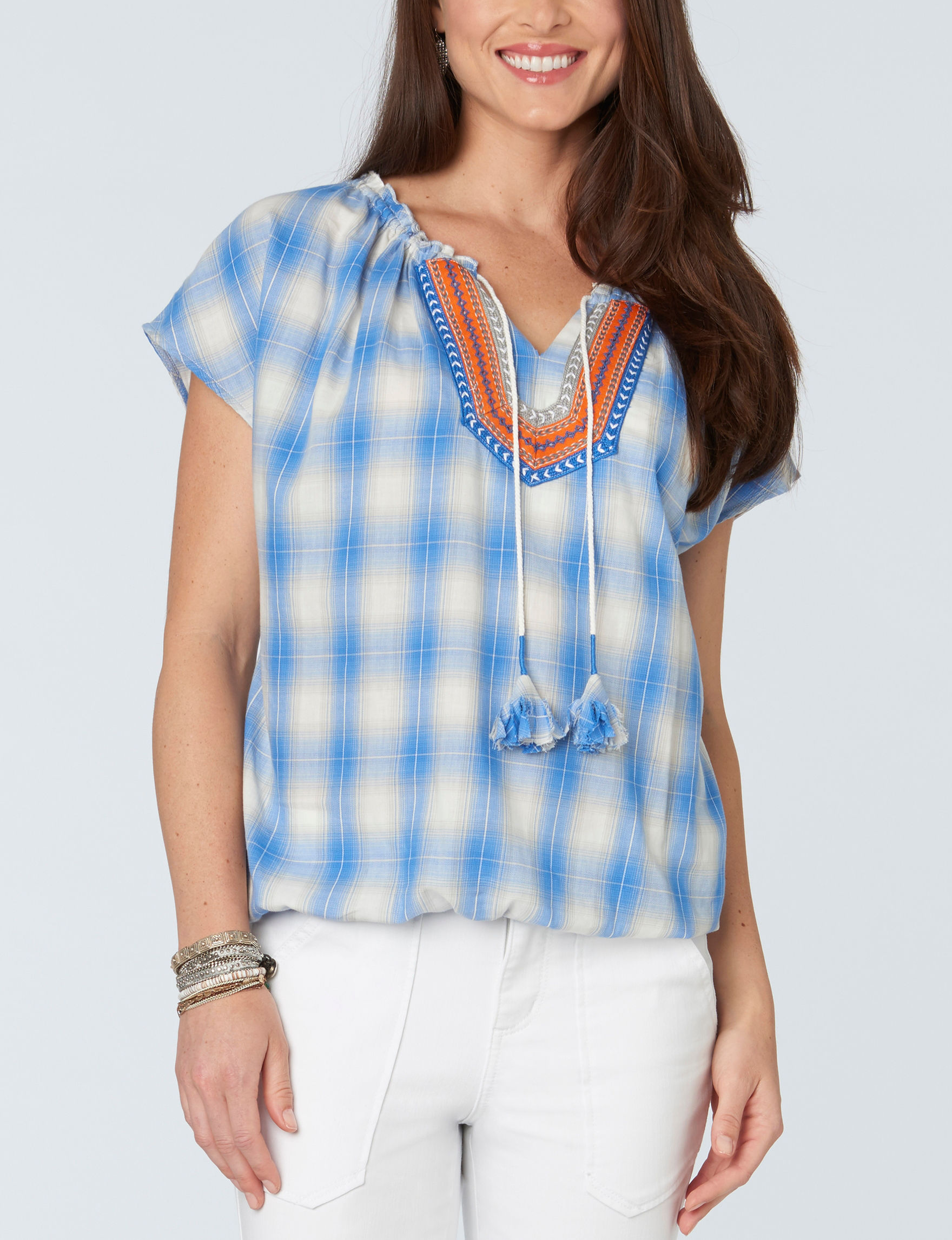 Democracy Blue Multi Pull-overs Shirts & Blouses