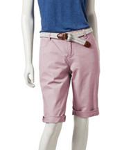 Bandolino Riley Belted Bermuda Shorts