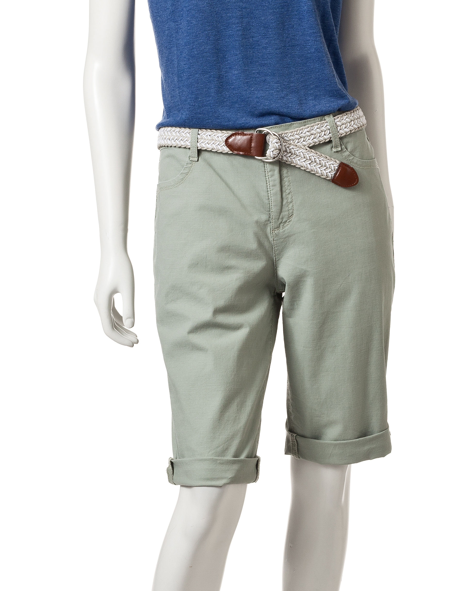 Bandolino Beige Tailored Shorts