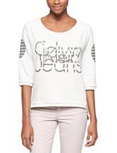 Calvin Klein Jeans Graphic Print Knit Top