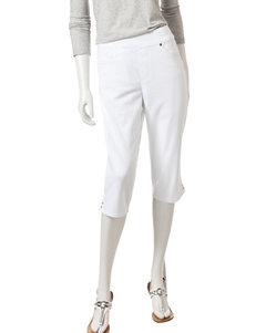 Gloria Vanderbilt White Capris & Crops
