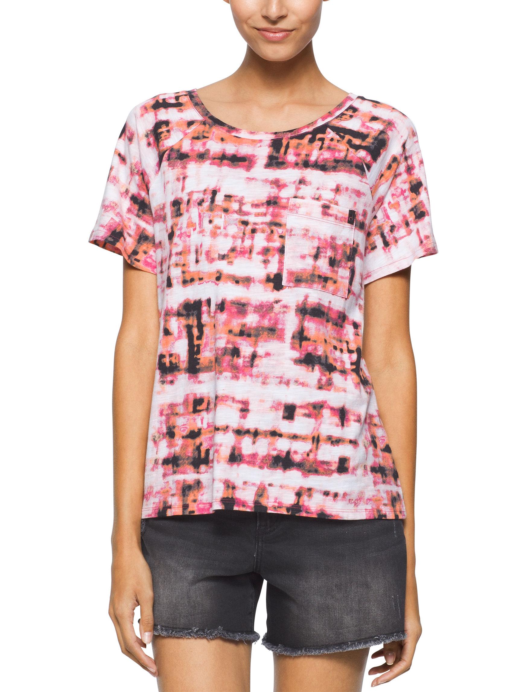 Calvin Klein Jeans Pink Multi Shirts & Blouses