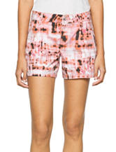 Calvin Klein Jeans Pleated Printed Shorts