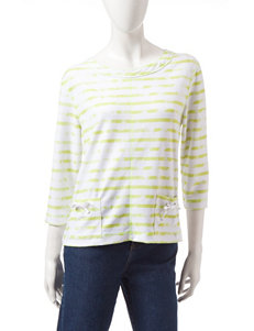 Onque Casuals Striped Print Knit Top