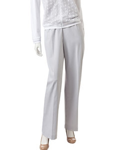 Alfred Dunner Grey Soft Pants