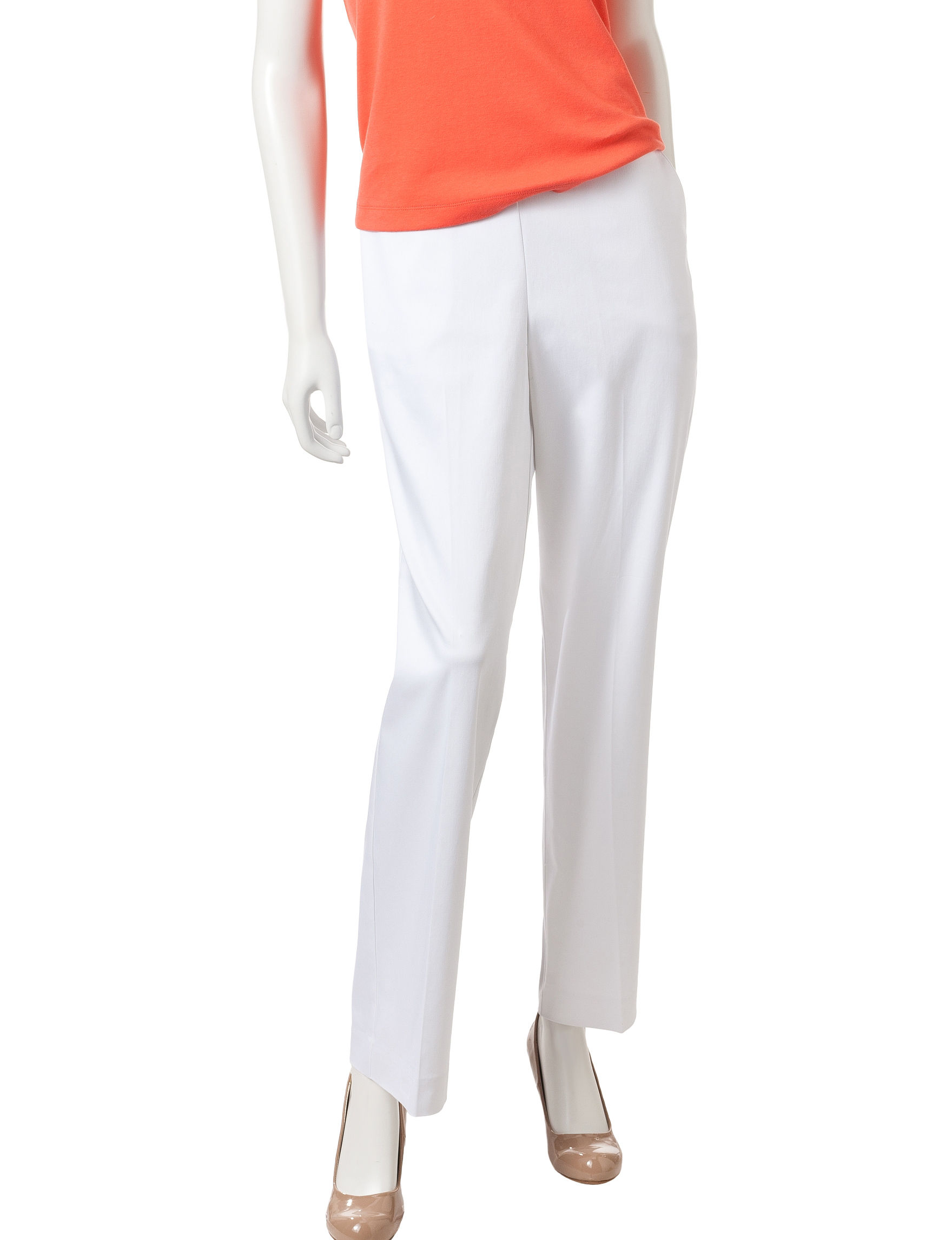 Alfred Dunner White Soft Pants