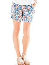 Hannah Floral Print Linen Shorts