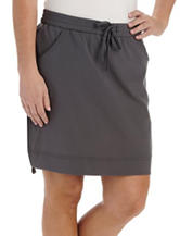 Lee® Martina Solid Color Charcoal Ruched Skort