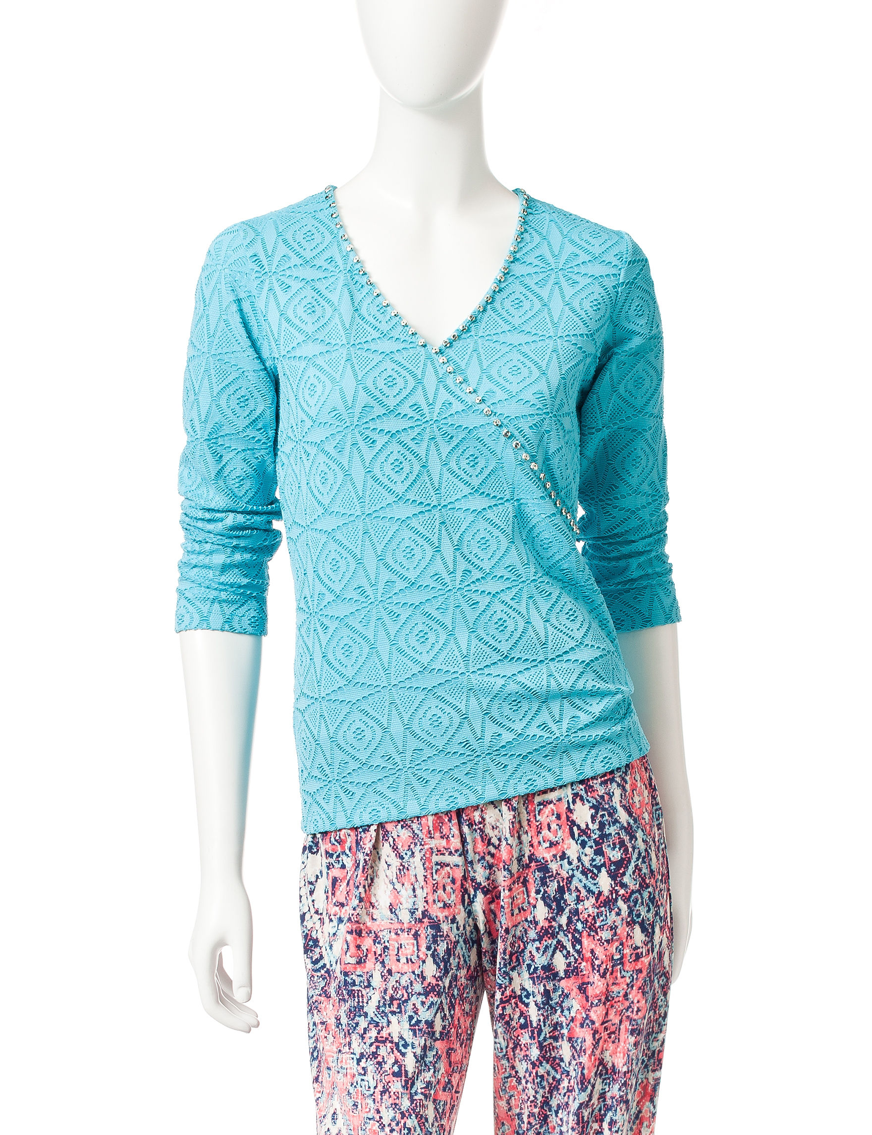 Ruby Road Turquoise Shirts & Blouses