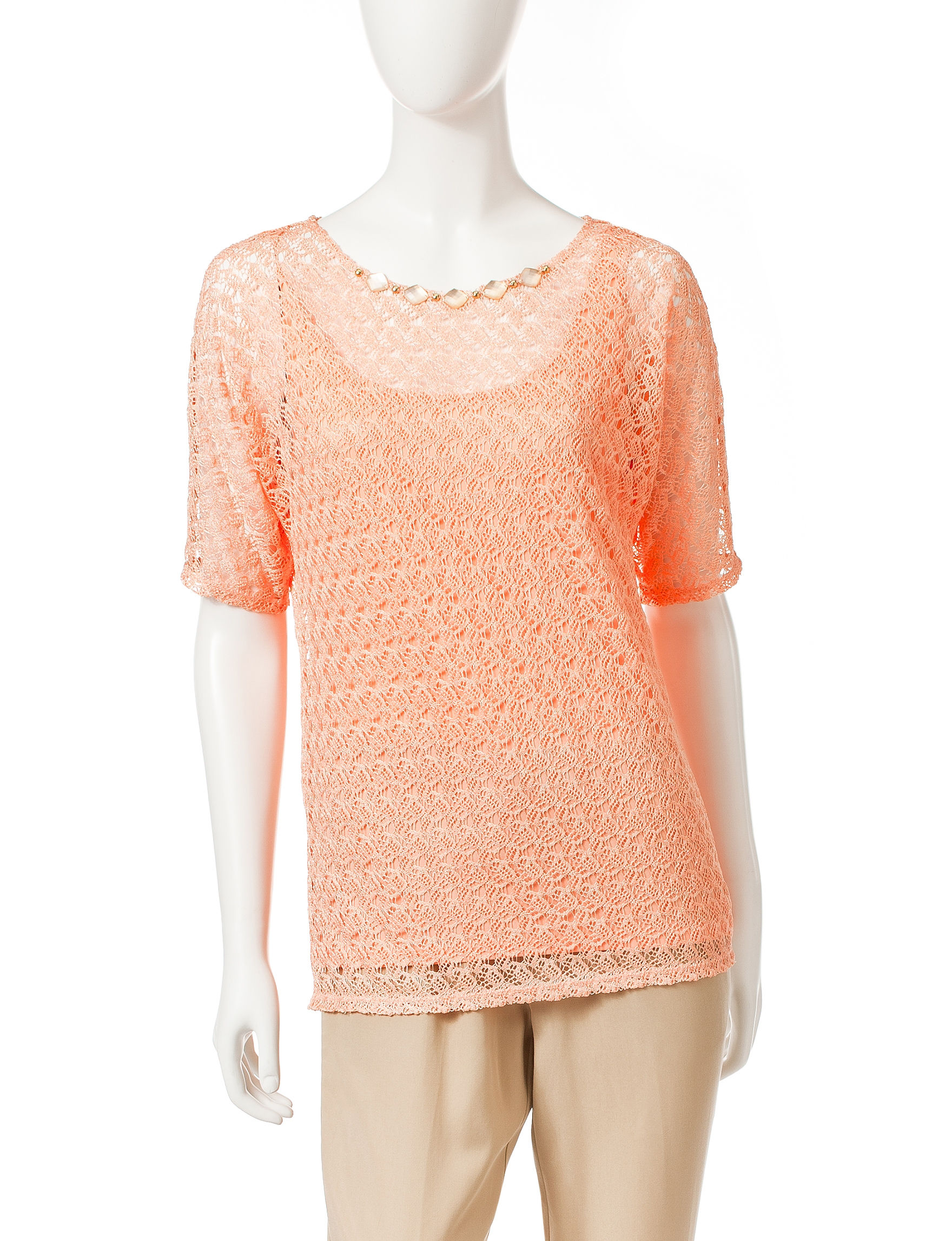 Ruby Road Orange Pull-overs Shirts & Blouses