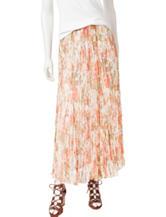 Ruby Rd. Floral Print Broomstick Skirt