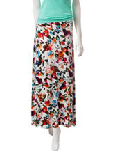 Hannah Multicolored Floral Print Maxi Skirt