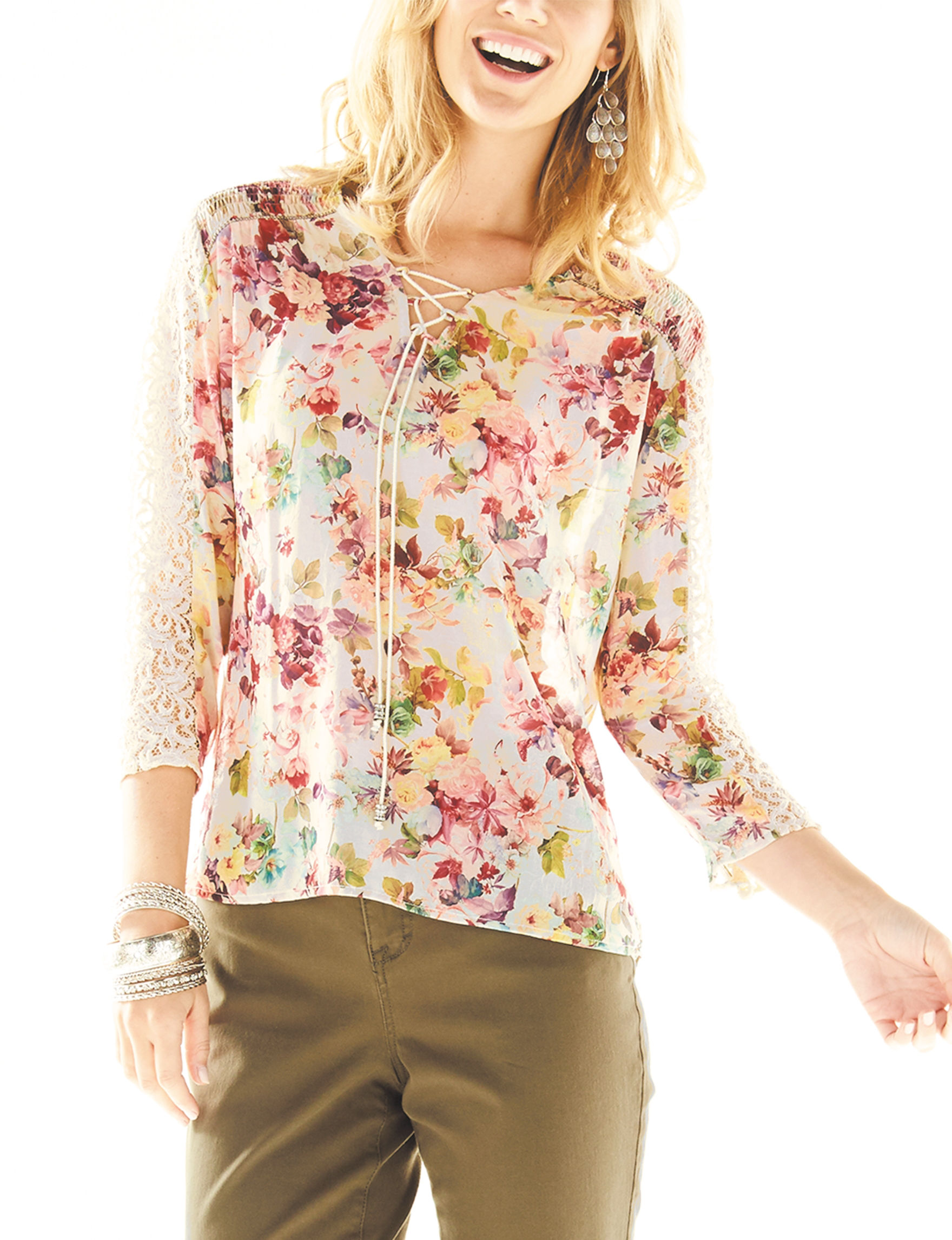Hannah Floral Multi Shirts & Blouses