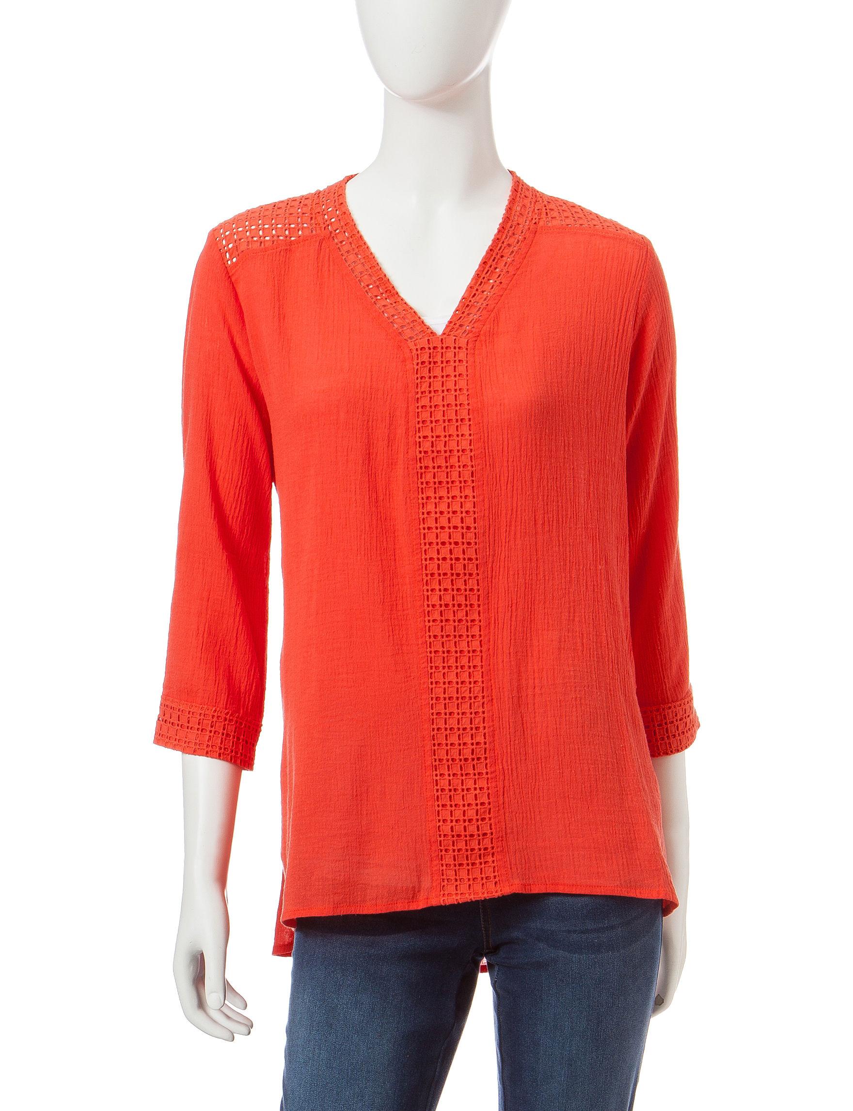 Hannah Coral Shirts & Blouses