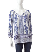 Hannah Mirrored Print Woven Top