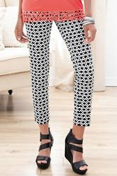 Valerie Stevens Geo Print Millennium Ankle Pants