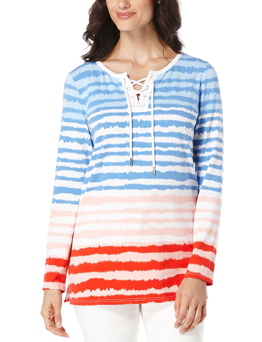 Rafaella Blue Multi Shirts & Blouses