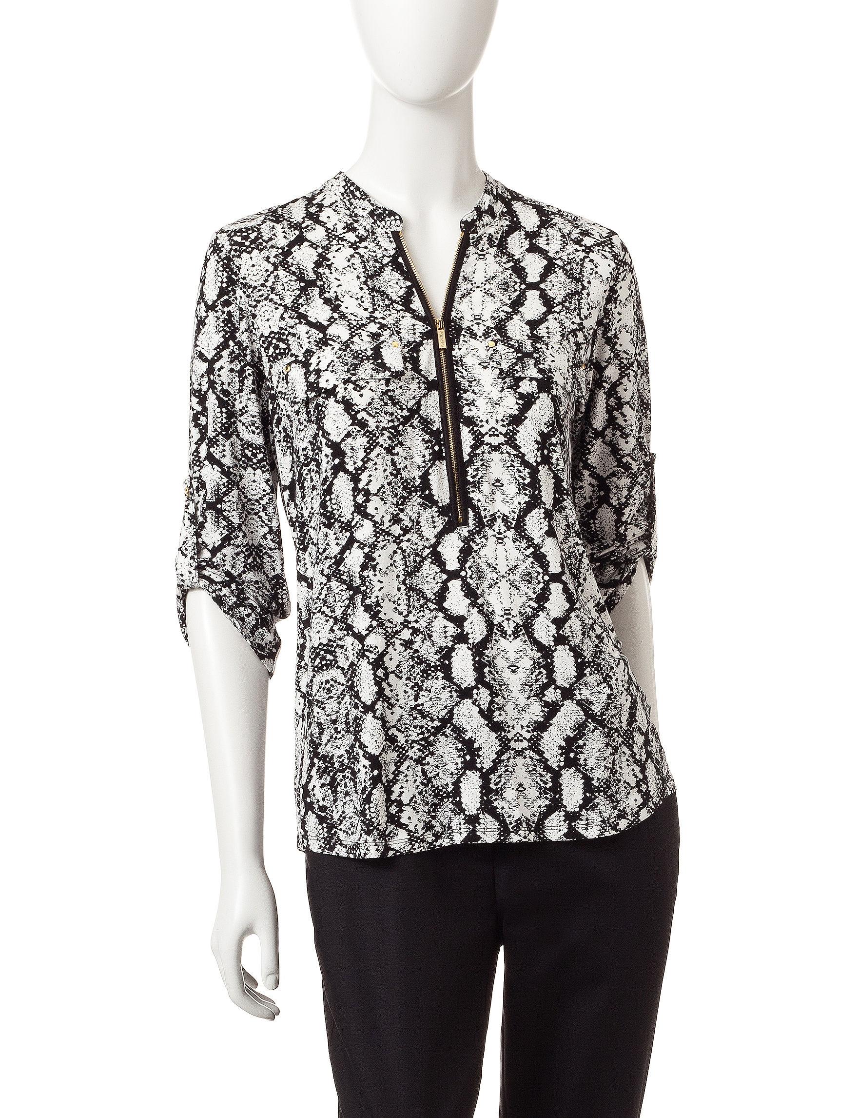 Calvin Klein Black Multi Shirts & Blouses
