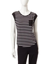Calvin Klein Mixed Striped Print Top