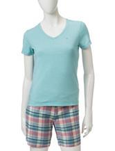 Dockers® Blue & White Striped Print Top