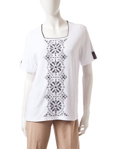 Alfred Dunner White Tees & Tanks
