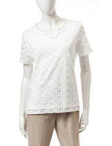 Alfred Dunner Ivory Tees & Tanks