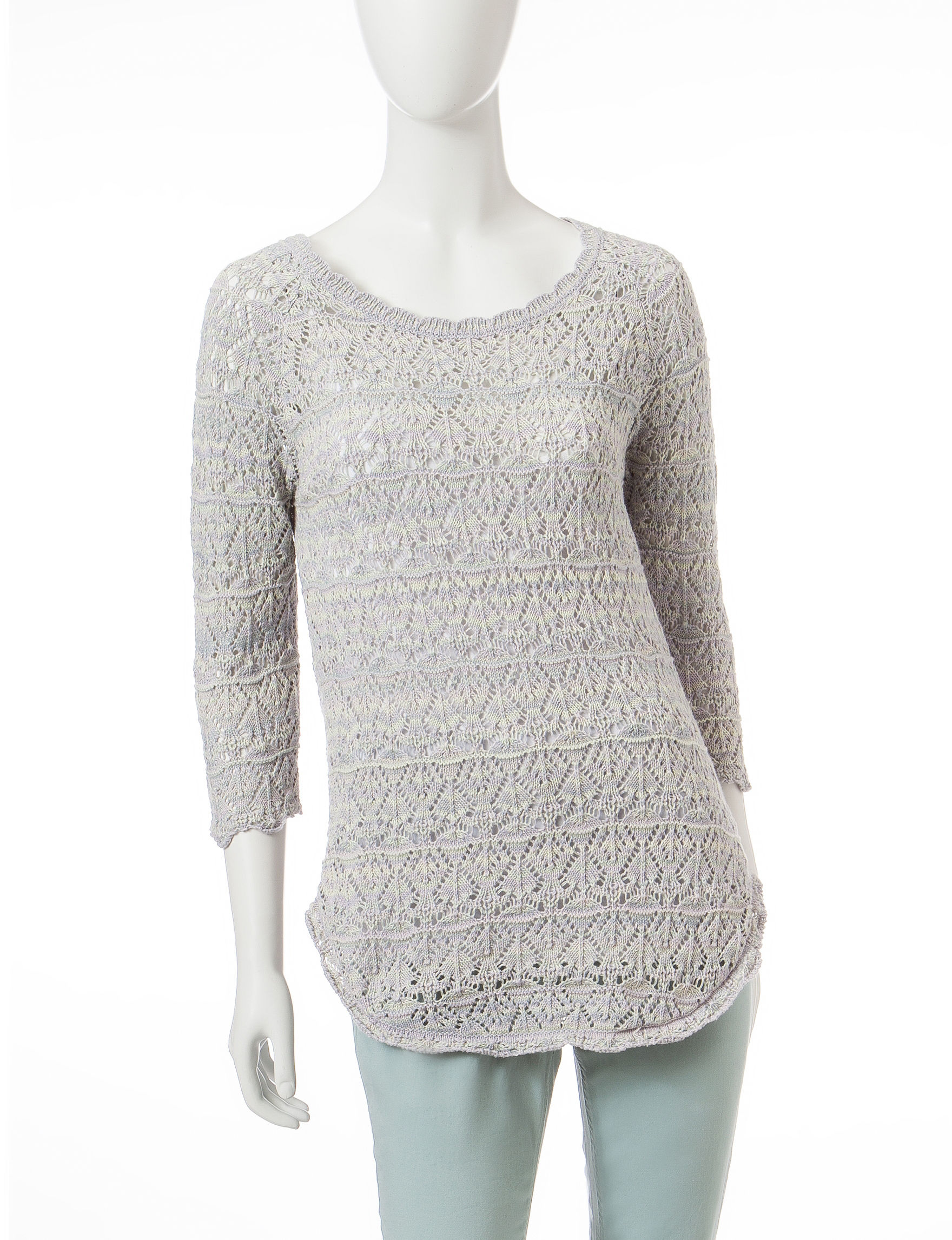 Jeanne Pierre Blue Cardigans Sweaters