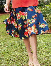 Valerie Stevens Floral Print Scuba Skirt