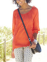 Valerie Stevens Crochet Peasant Top
