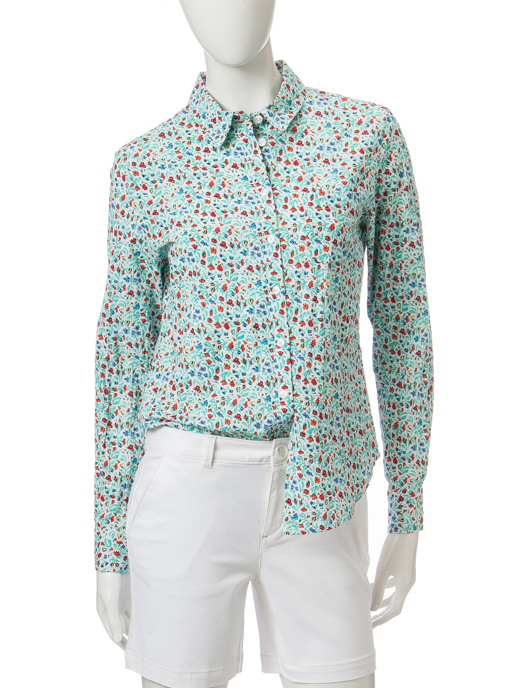 Dockers White Regular Shirts & Blouses