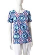 Rebecca Malone Printed Knit Top