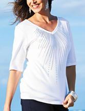 Rebecca Malone Stud Embellished Top