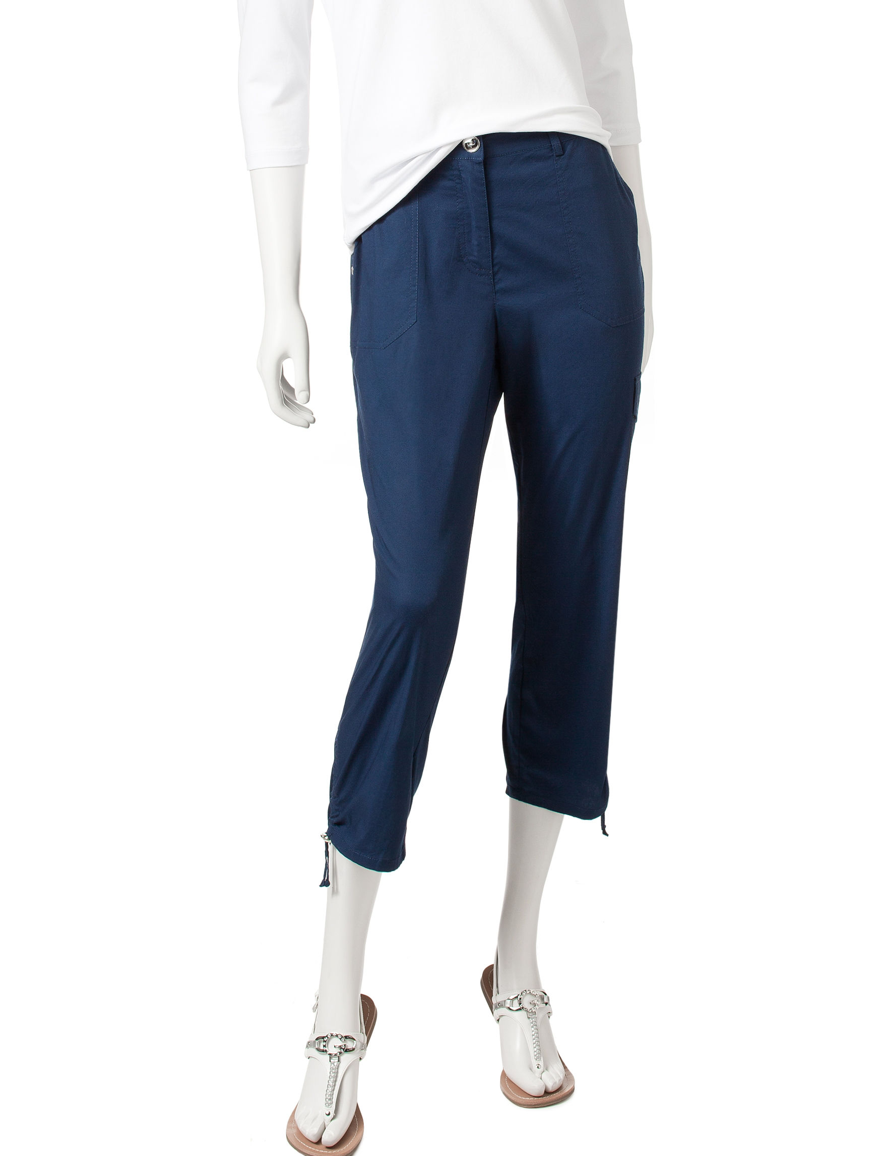 Hearts of Palm Navy Capris & Crops